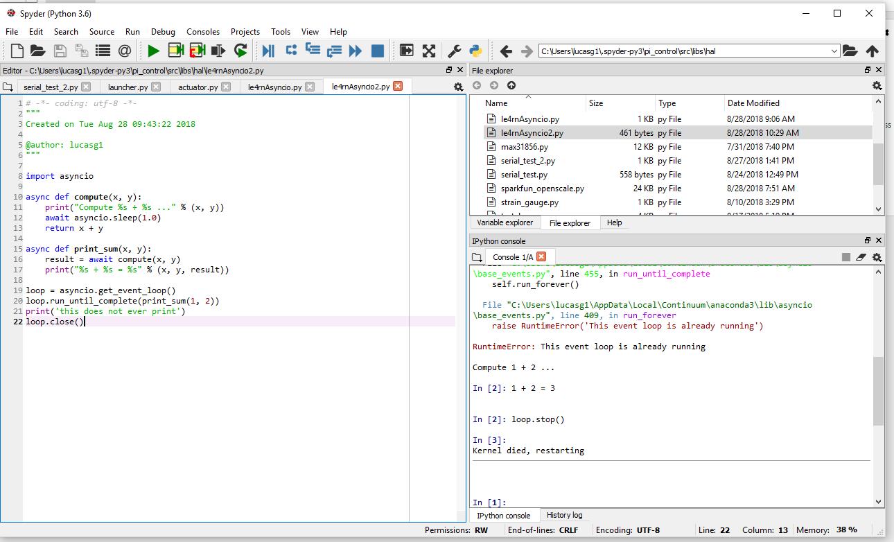 "RuntimeError: This event loop is already running"""