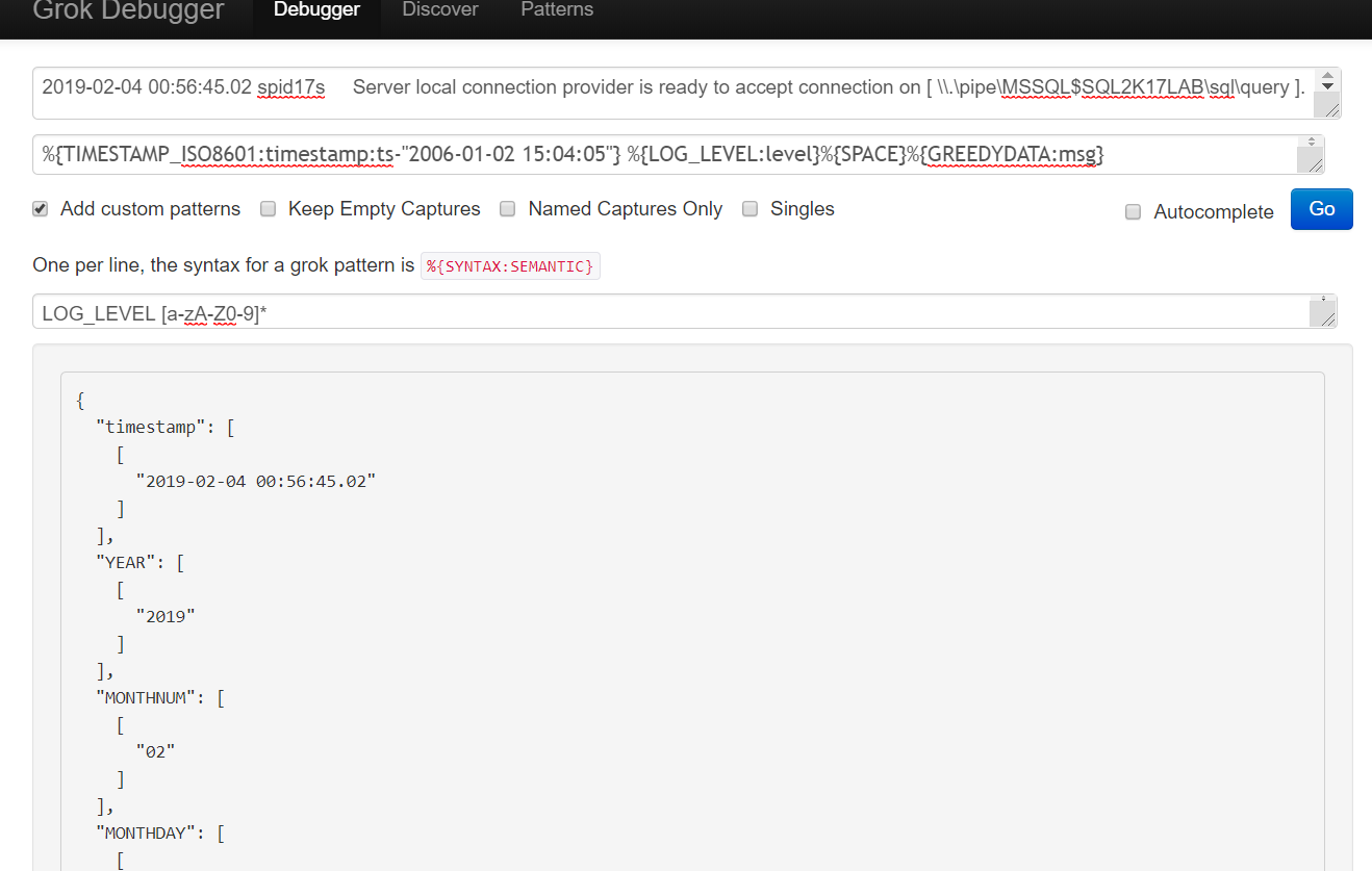 Cant parsing error log of SQL Server via inputs logparser