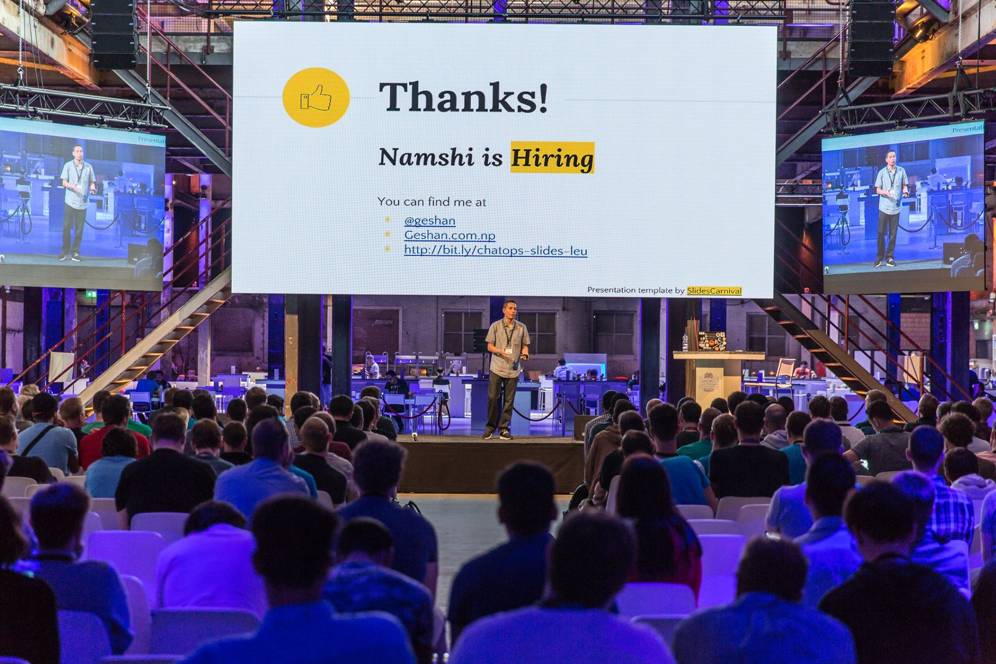Speaking about Chatops at Laracon EU Amsterdam 2016