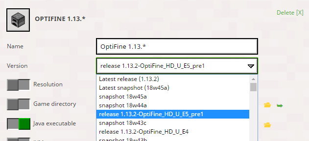 OptiFine 1 13 2 installs, but doesn't start · Issue #2001