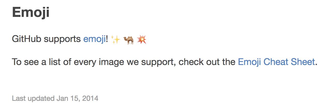 github markdown emoji