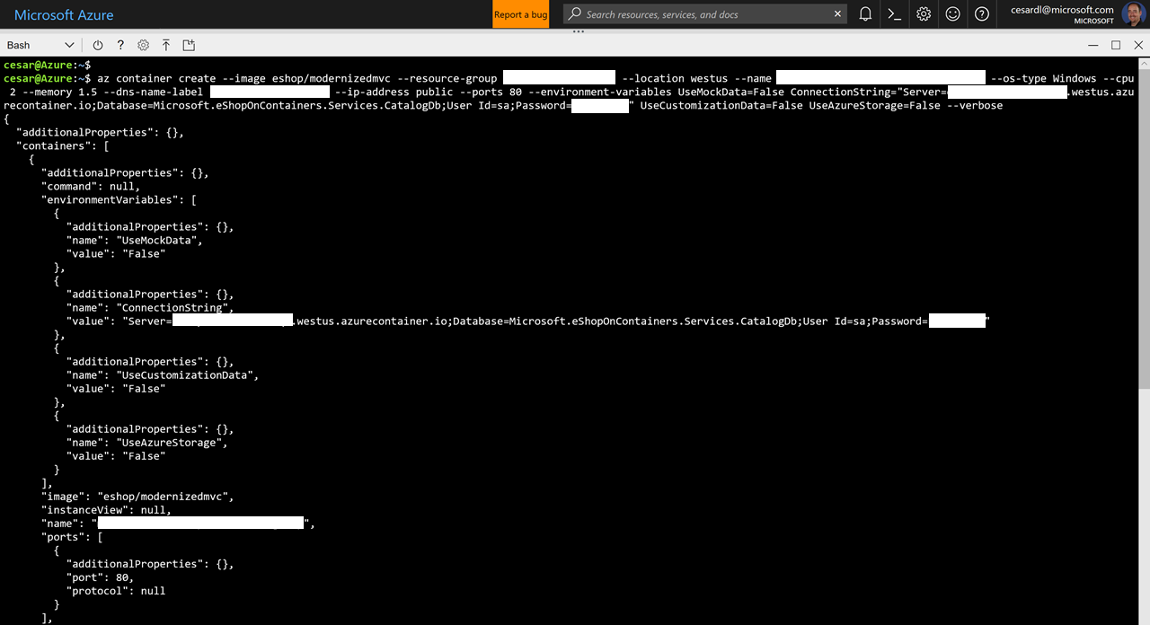 05  Deploying the Apps to ACI (Azure Container Instances