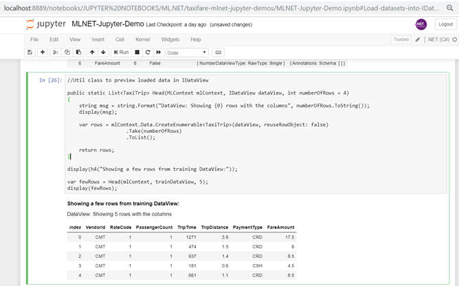Exploring data in Jupyter