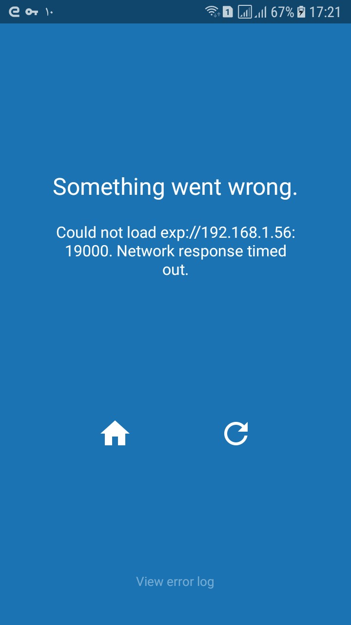 Could not load expo Network response timed out · Issue #134