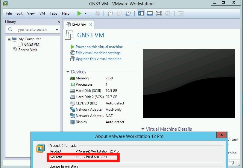 GNS3 VM cannot be imported in latest versions of VMware