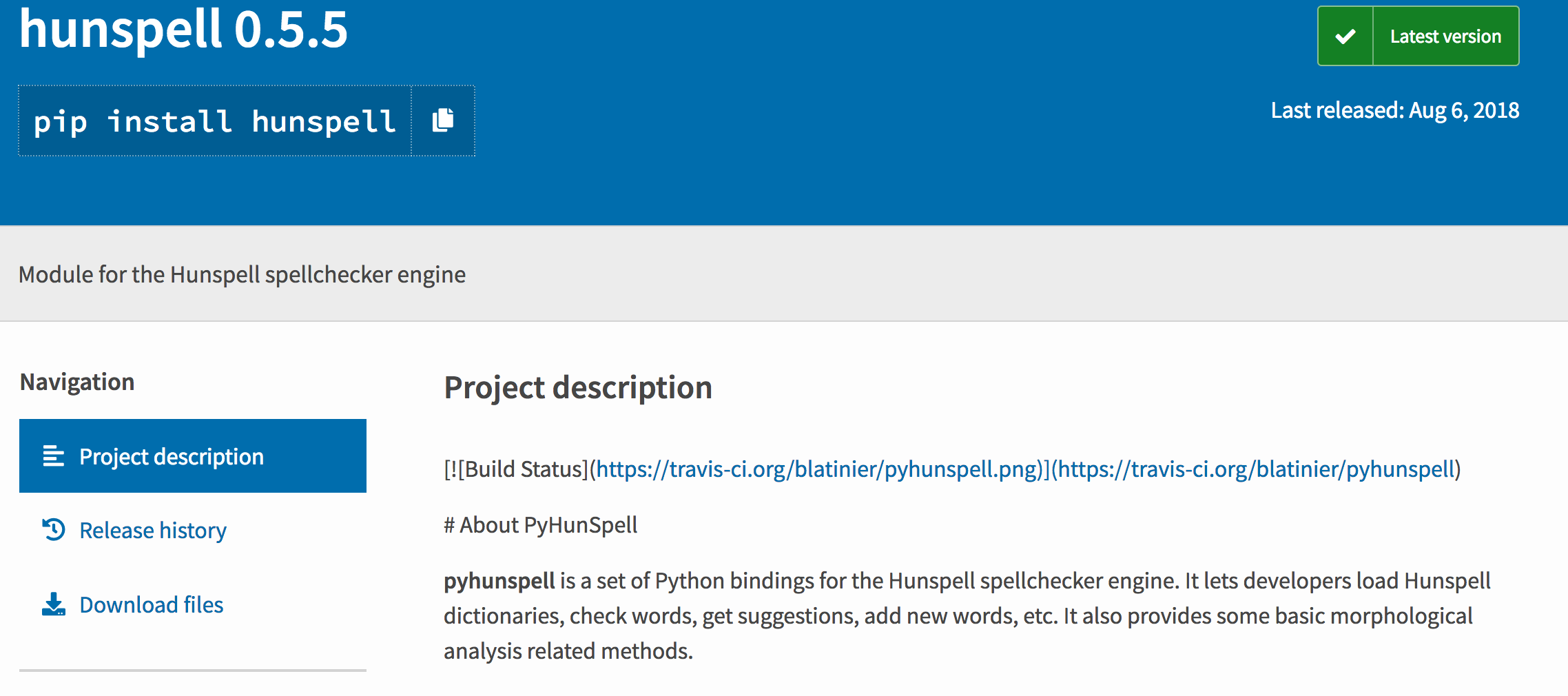Documentation on PyPI not rendering Markdown · Issue #62