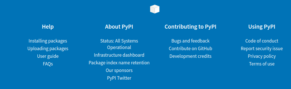Add link to PyPI Twitter account in footer · Issue #4630 · pypa
