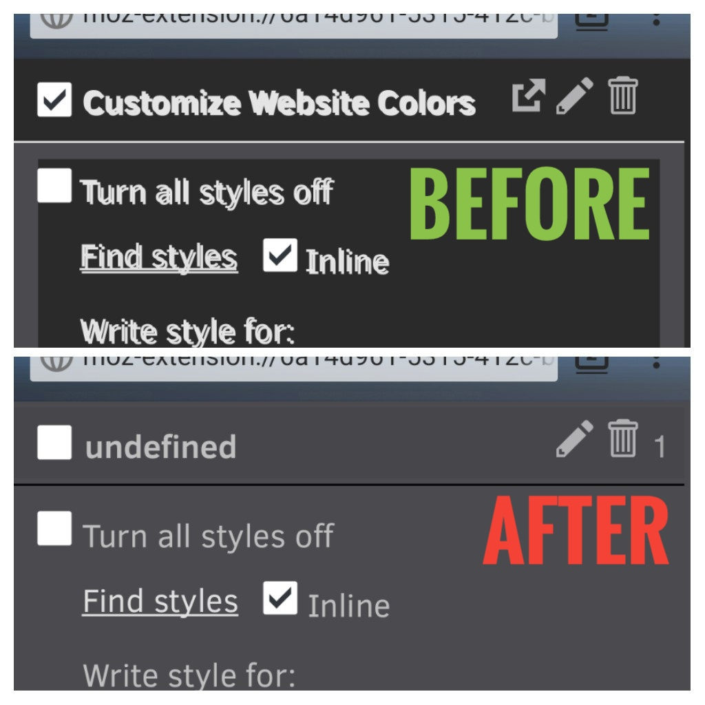 Firefox-android] Styles become