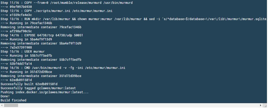 docker build screenshot