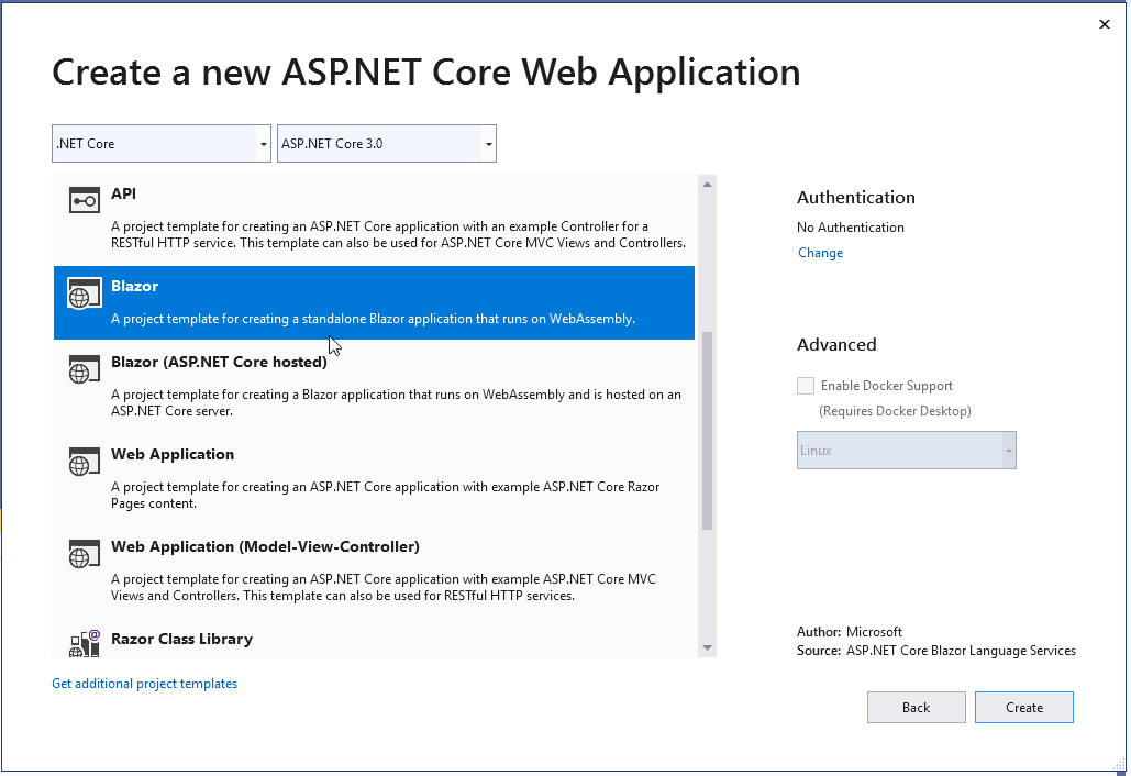 ASP NET Core Blazor Language Services Does not work with last  net