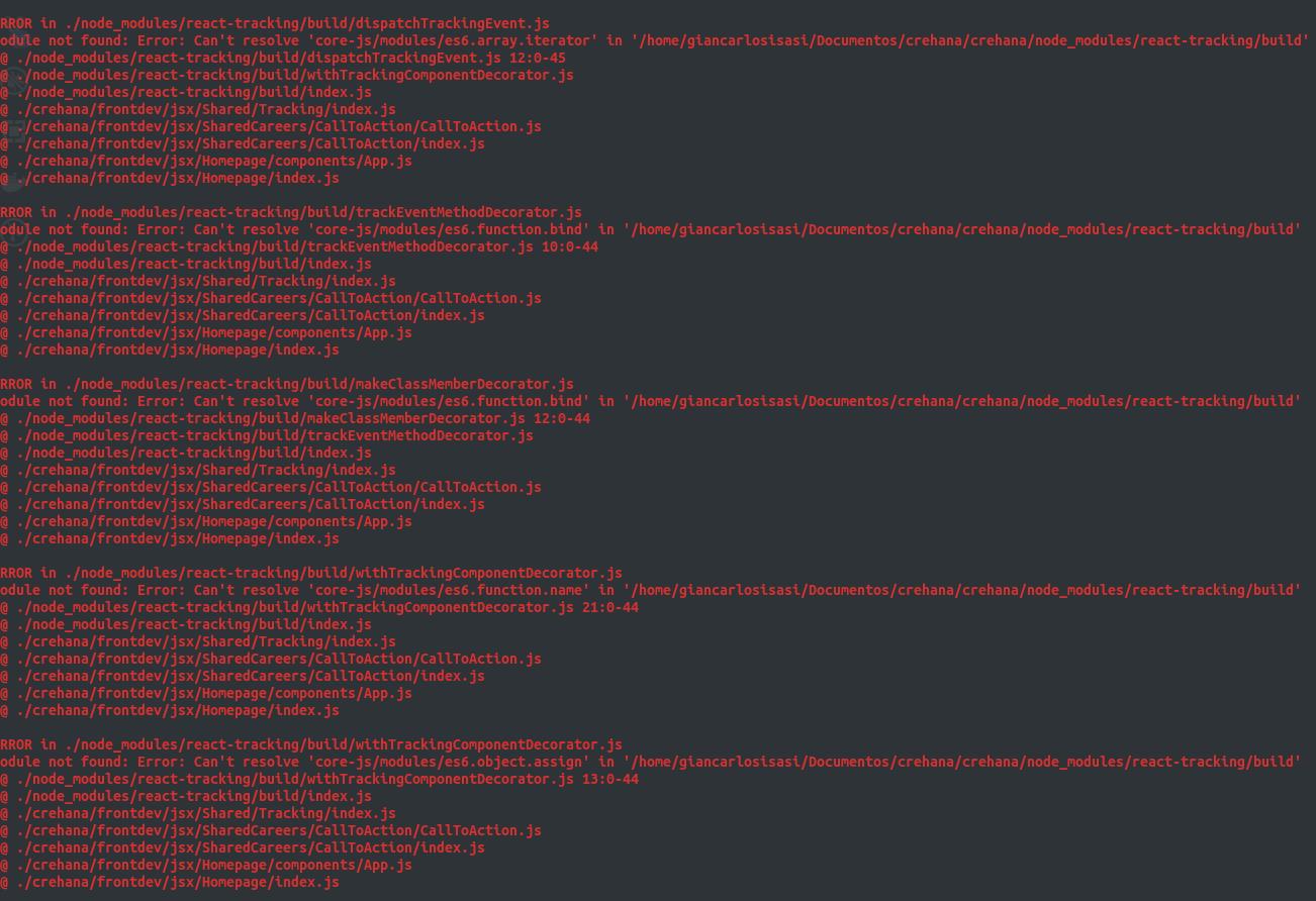 Module not found: Error: Can't resolve 'core-js/modules/es6 function