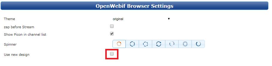 OpenWebif new Design · Issue #300 · oe-alliance/oe-alliance-core