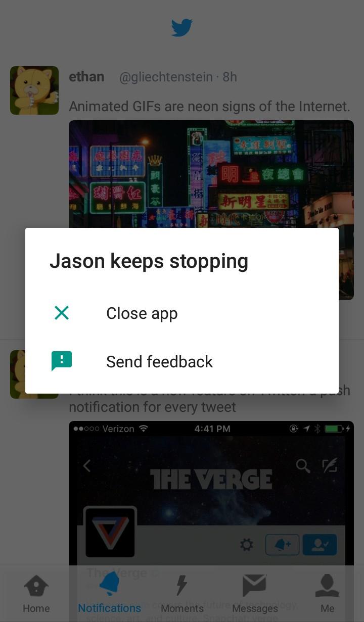Jasonette has stopped