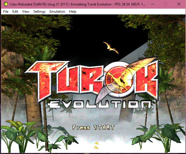 turok evolution sur cxbx