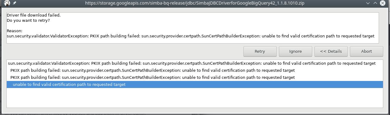BigQuery support · Issue #1687 · dbeaver/dbeaver · GitHub