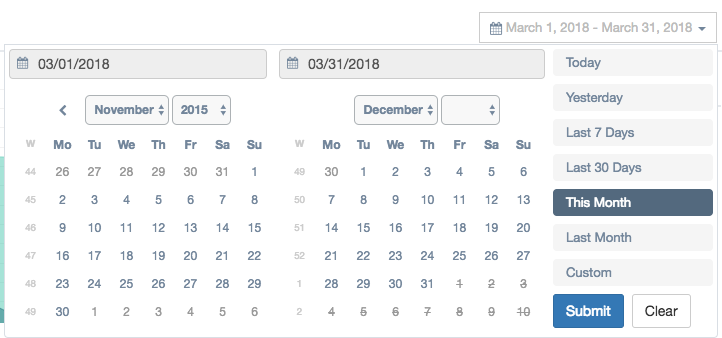 feature request: date range in one box · Issue #1296