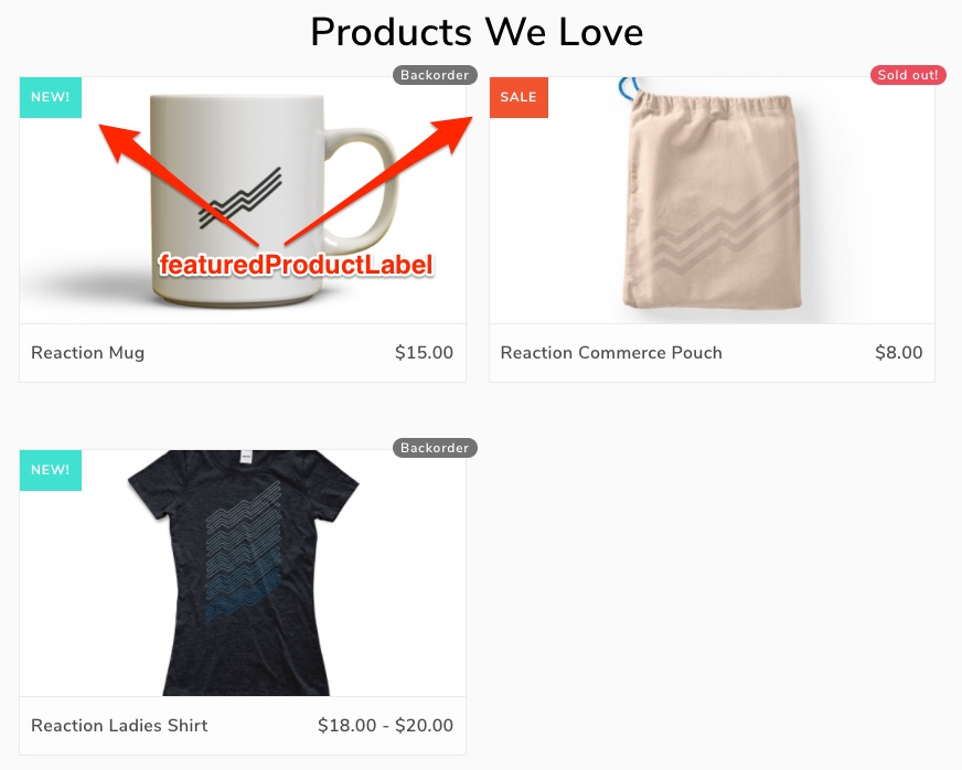Screenshot Featured Product