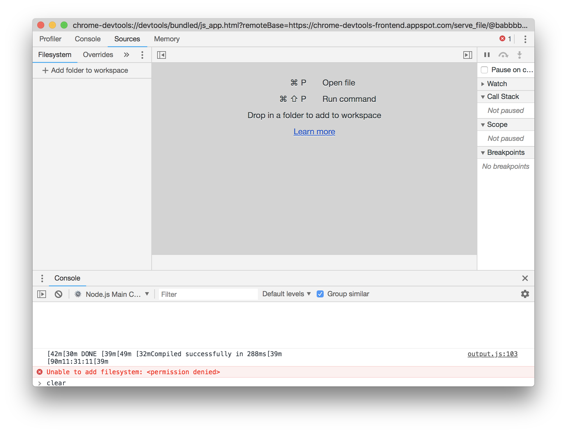 Script debugging no longer seem to work in Chrome DevTools