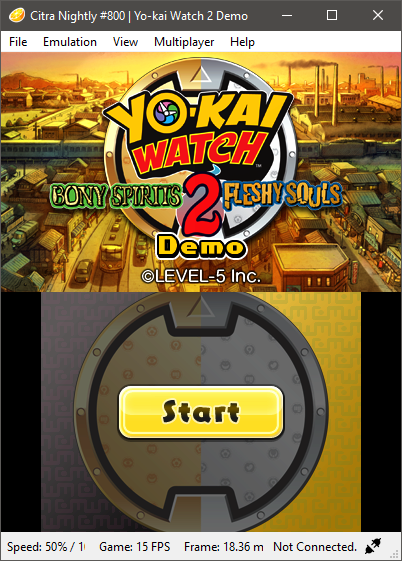 Yo-Kai Watch 2 Demo - Black Top Screen with Hardware