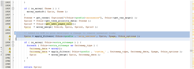 add filter api hook to remove unwanted urls from sitemap issue