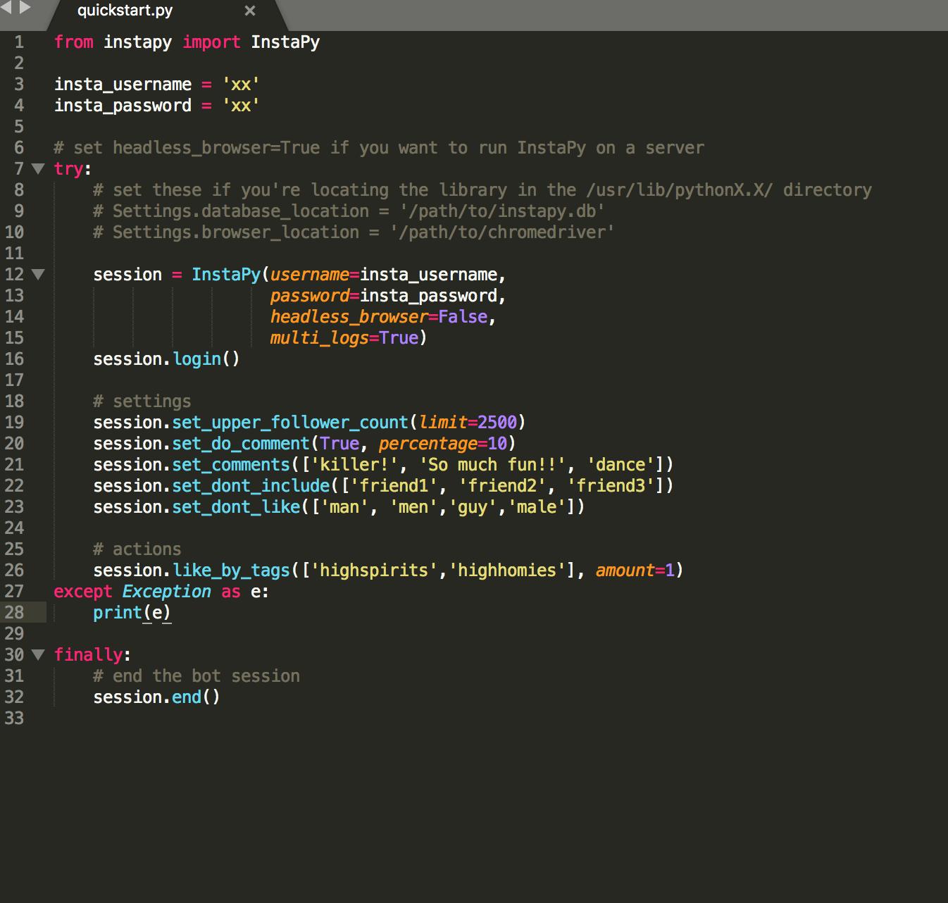 Instapy Scripts - Instafree cf