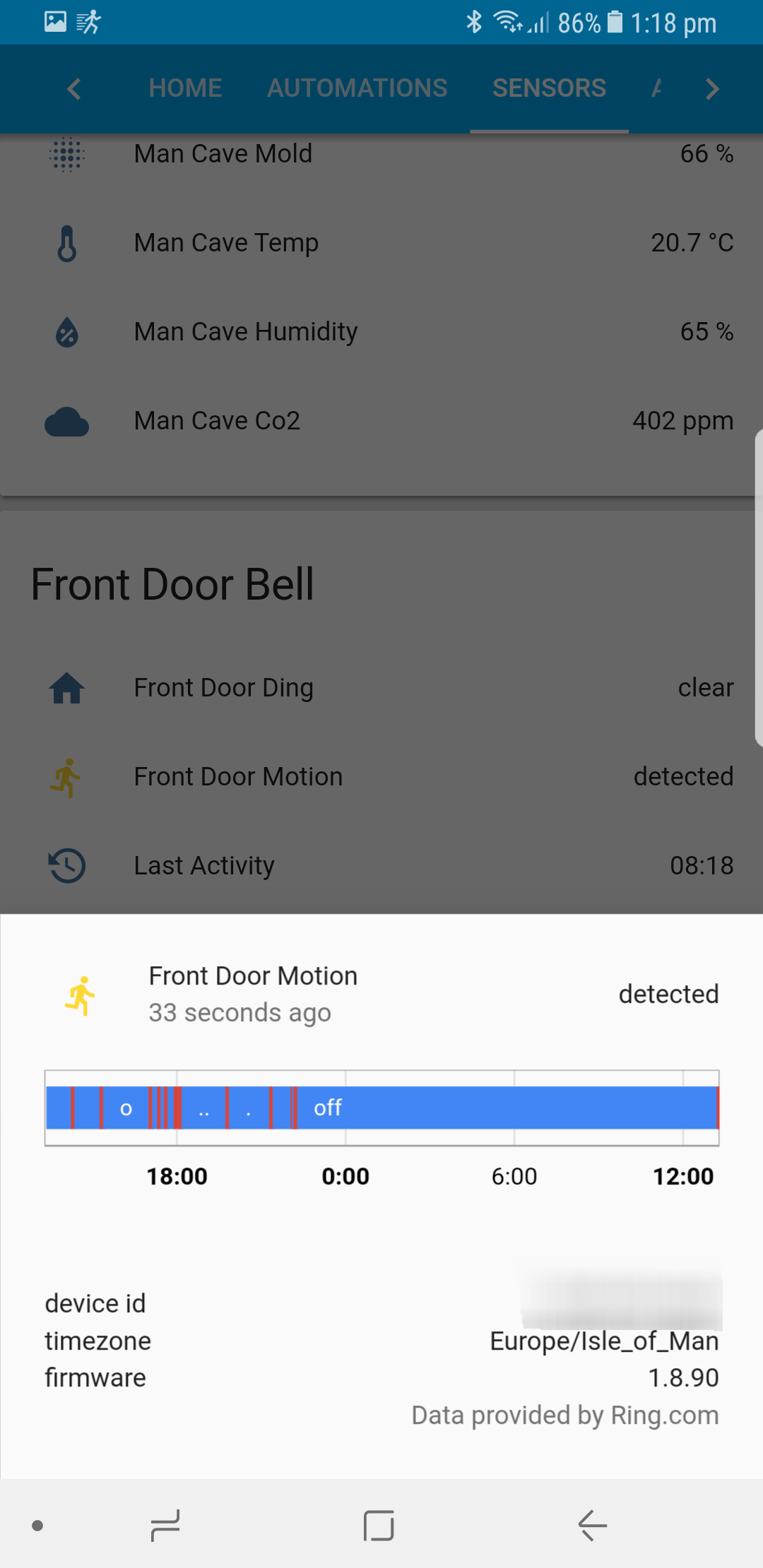 Ring Binary sensor Doesn't differenciate between devices
