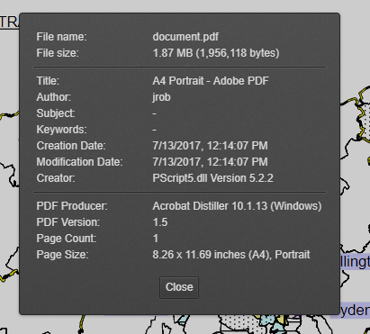 add paper size to document information · Issue #6990