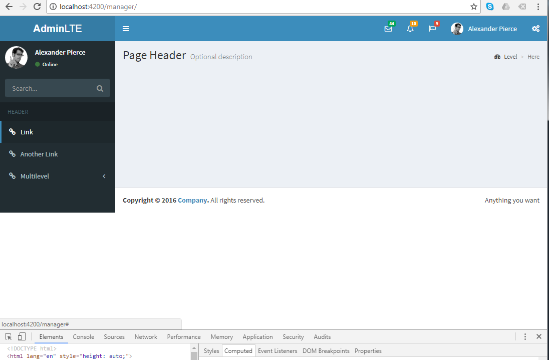 When Use Augularjs Ng Include Add Child View The Main Footer Is