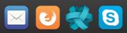 Thunderbird Mail, Firefox Web Browser, Ring, Skype