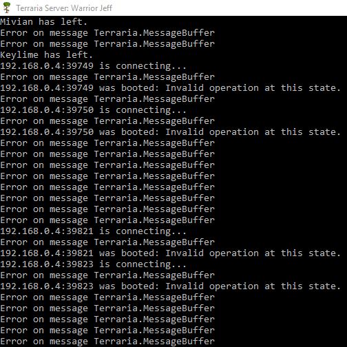 Developers - Error on Message Terraria MessageBuffer -