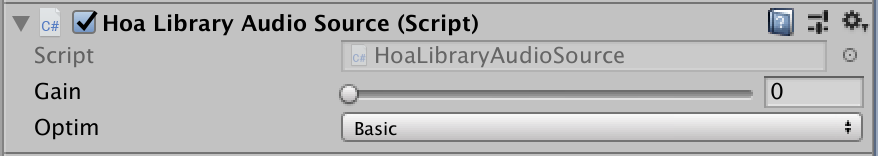 HoaLibrary Unity - AudioSource component