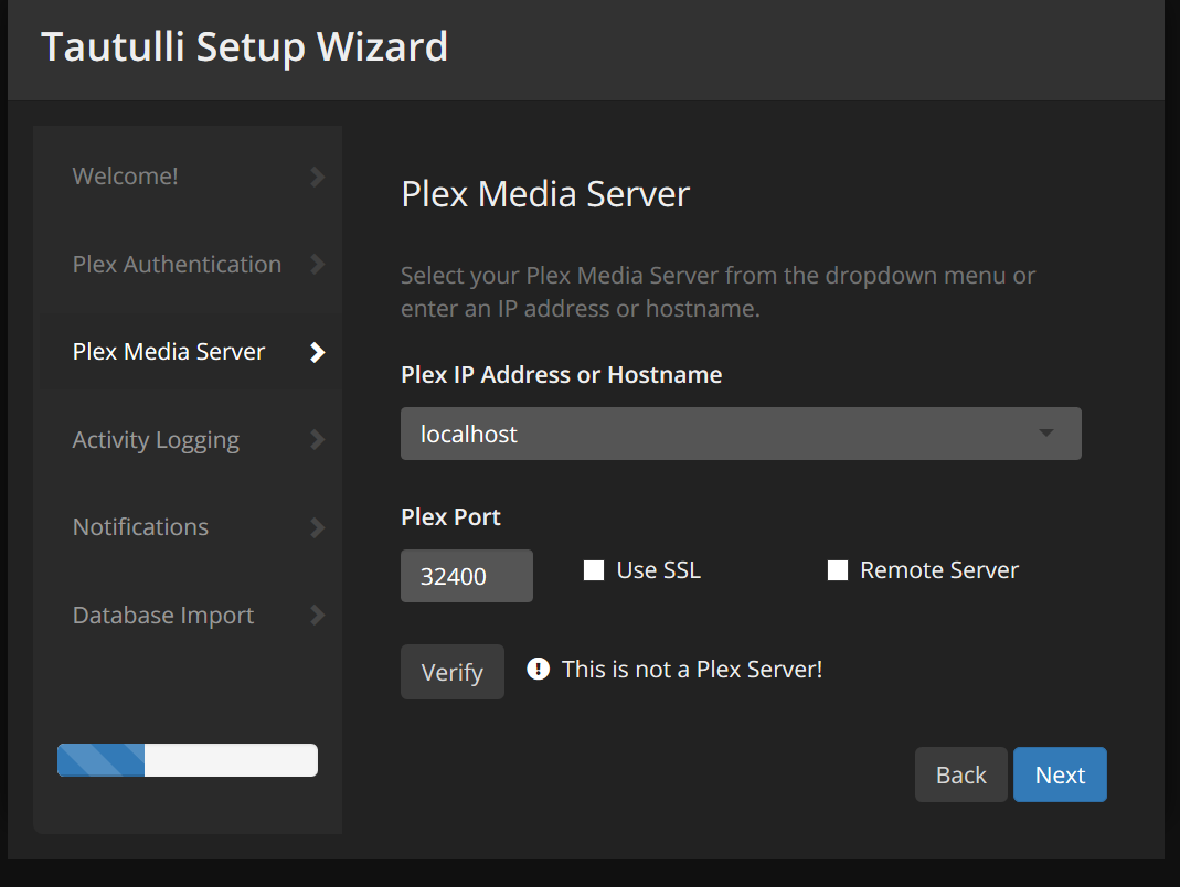 Tautulli cant see the Plex server · Issue #619