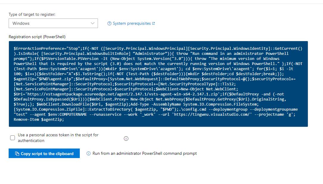Windows: Registration script does not work behind proxy