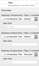 The right side overrides setion in Sketch allows for tab title and state to be customized
