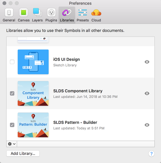 You can see all of your Sketch Libraries in Sketch > Preferences > Libraries