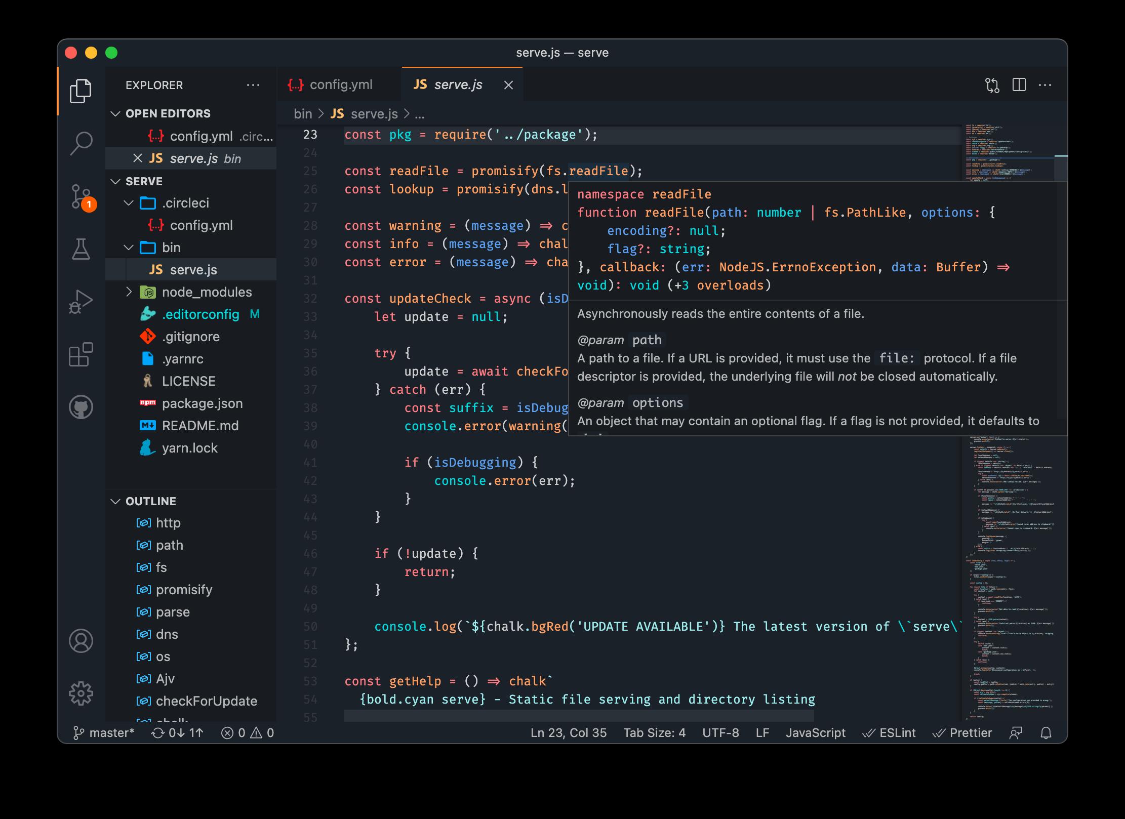 TapTap's VS Code theme preview