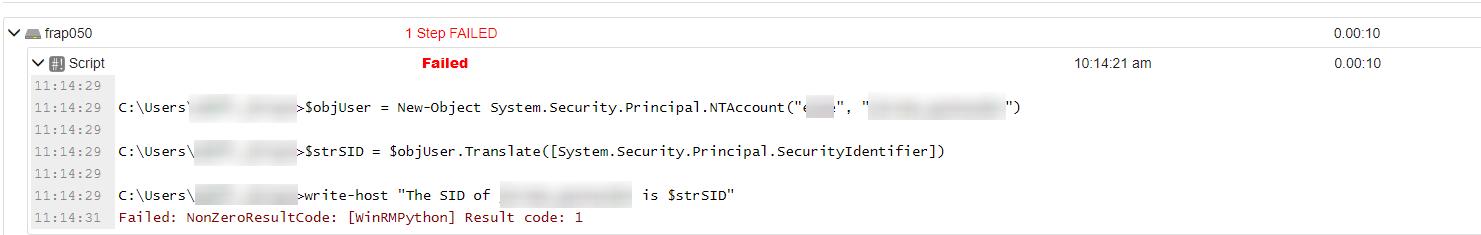 NonZeroResultCode: [WinRMPython] Result code: 1 · Issue #21