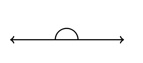 example of a straight angle