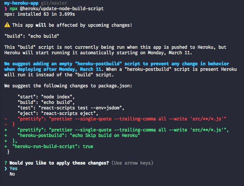 screenshot of the CLI tool working