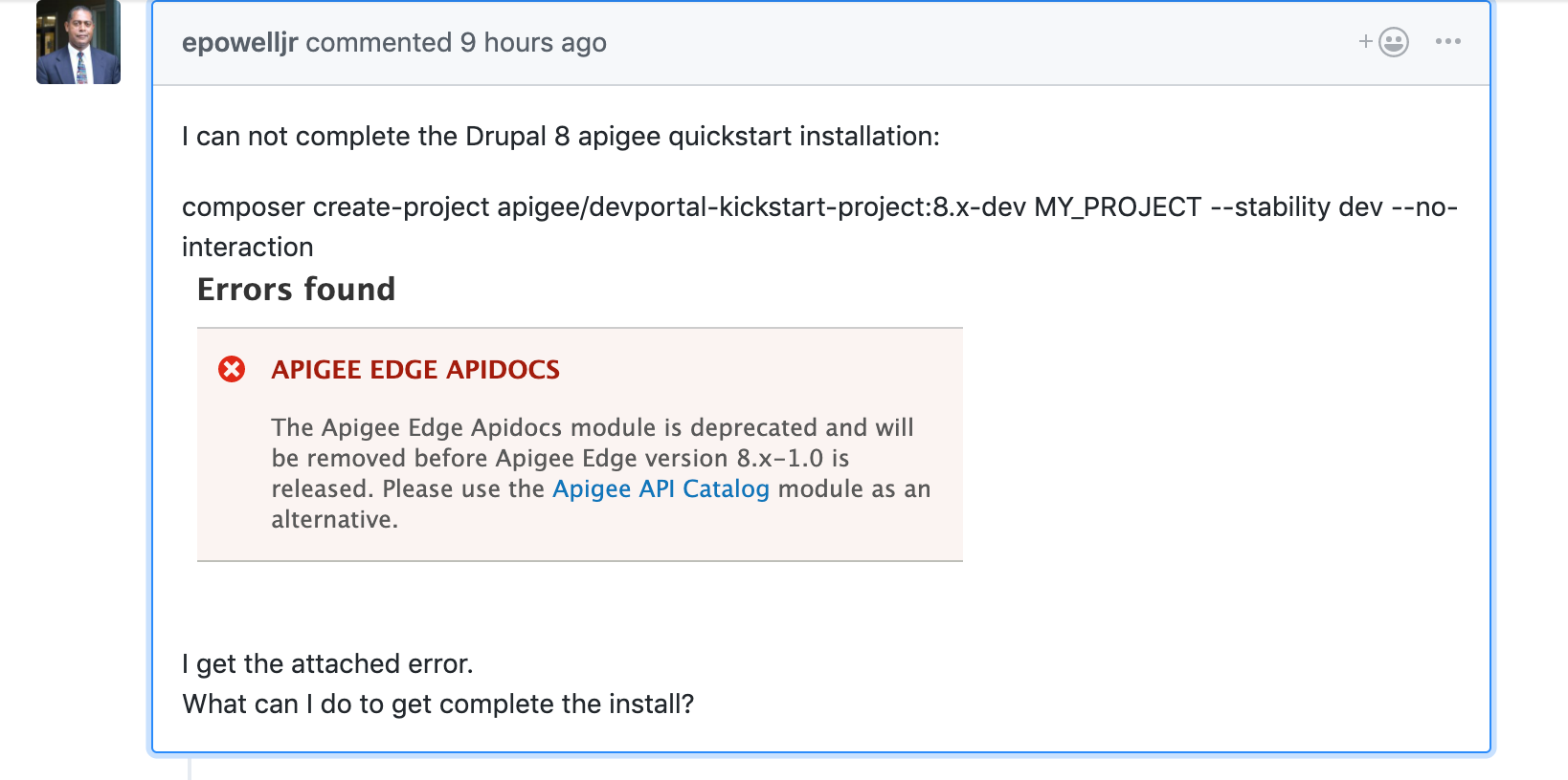 Project creation issue after Apigee Edge RC5 · Issue #117 · apigee