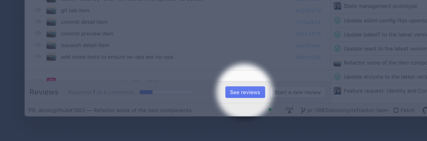 see reviews footer button