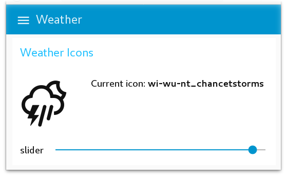 Node-RED Dashboard Weather Icon Previewer