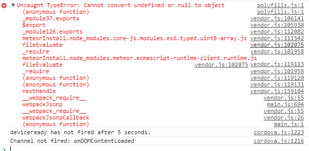 Uncaught TypeError: Cannot convert undefined or null to object with