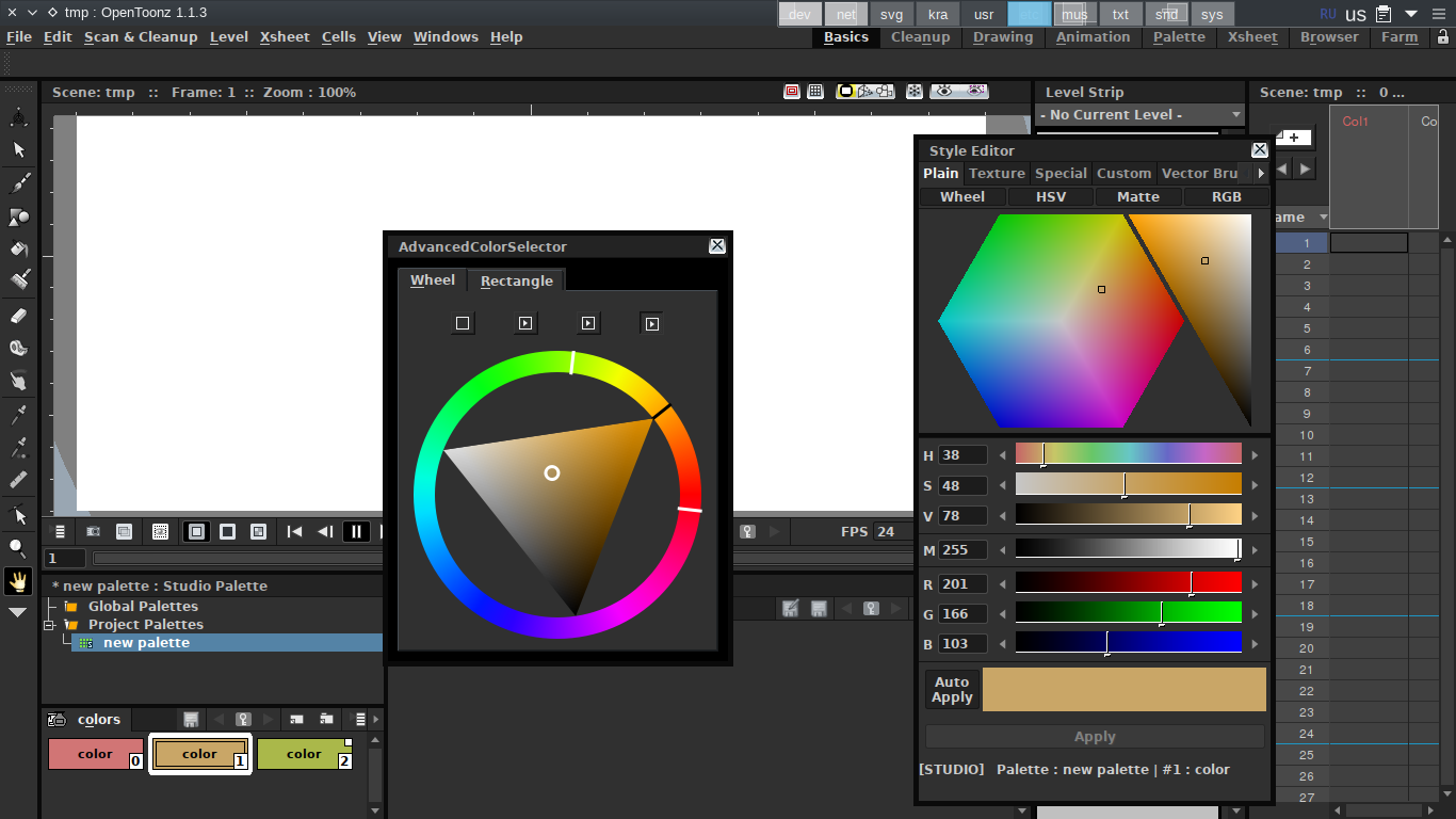 Wip Advanced Color Selector