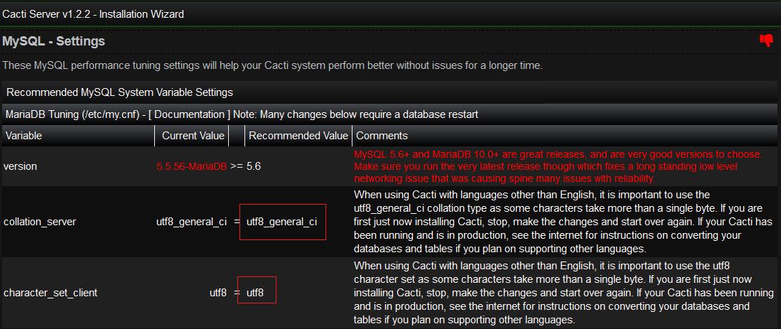 When checking for correct Unicode, minimum MySQL version is