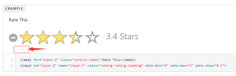 Some dots appear below the stars after click · Issue #184