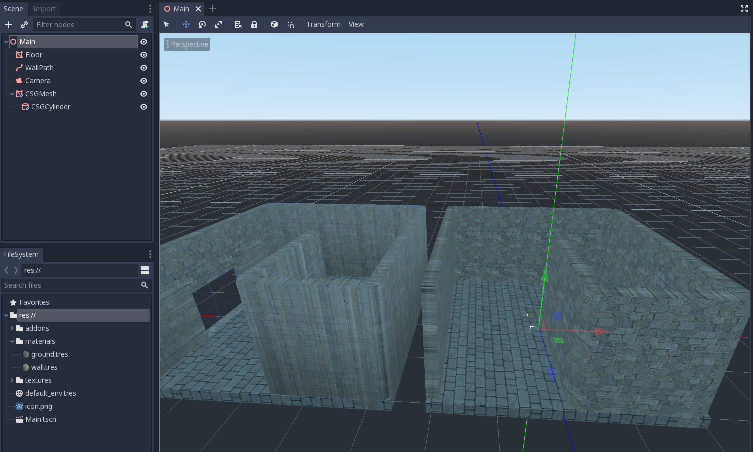 CSGMesh messing up normals · Issue #28661 · godotengine