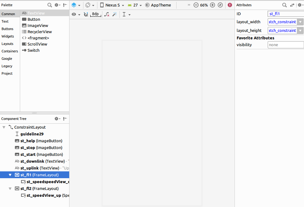 android studio 3.1.4 layout preview not working