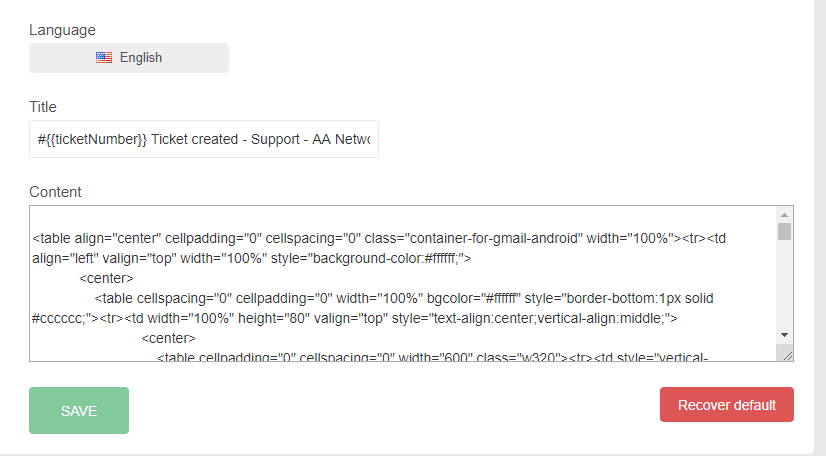 When Editing Email Templates The Code Breaks Issue 335