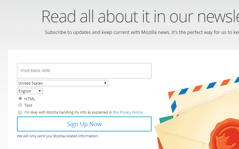 Consider Adding More Information To The Newsletter Signup Issue